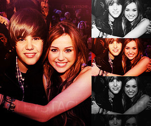 miley cyrus, justin bieber, and *follow me image