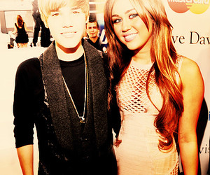 miley cyrus, justin bieber, and bieber image