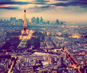 city, travel, and love image
