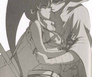 anime, gurren lagann, and couple image