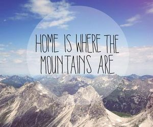mountains, snow, and home image