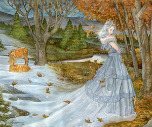 Queen, snow, and seasons image