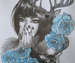 drawing, tattoo, and cute image