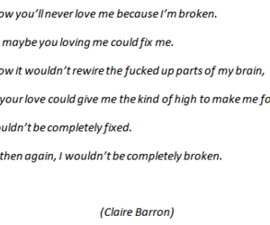 broken, love story, and quotes image