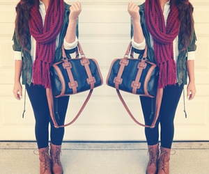 bag, combat boots, and fashion image