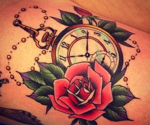 red, rosa, and reloj image