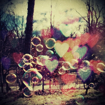bubbles, clouds, and trees image