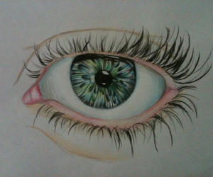 art, blue eyes, and draw image