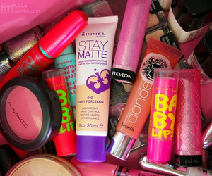 makeup, baby lips, and girly image