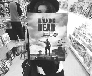 the walking dead, girl, and black image