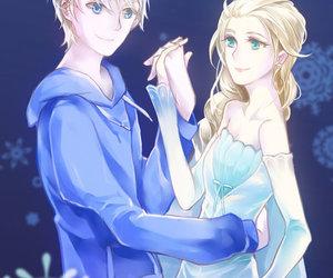 elsa and jack, frozen elsa, and jack frost x elsa image