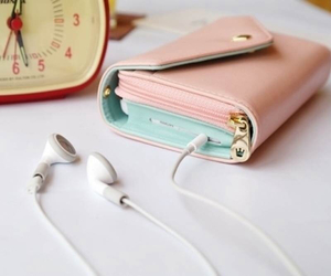 pink, wallet, and purse image