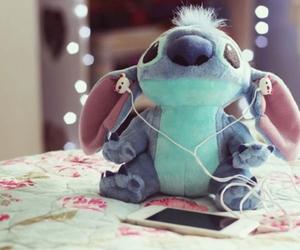 stitch, cute, and music image