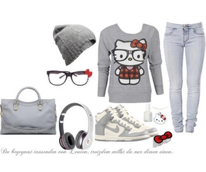 fashion and hello kitty image