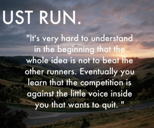 run, motivation, and quote image