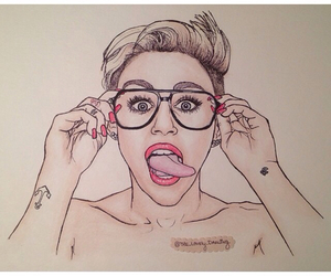 cyrus, drawing, and miley image