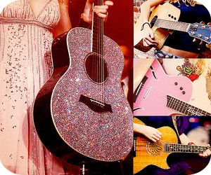 cool, glitter, and guitars image