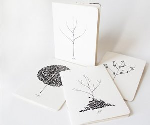 black and white, doodles, and etsy image