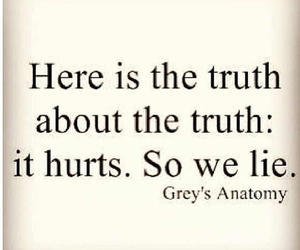 grey's anatomy, truth, and lies image