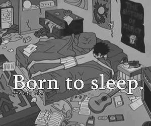 sleep, born, and black and white image