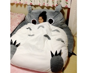 bed, sleep, and totoro image