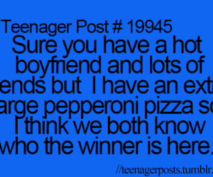 teenager post, pizza, and boyfriend image