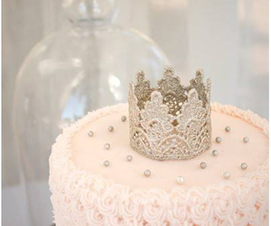 cake, princess, and crown image