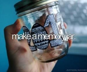 memories, jar, and bucketlist image