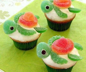 cupcake, turtle, and food image