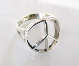 peace, ring, and silver image