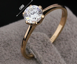 ring, diamond, and girl image