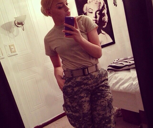army, best friend, and blonde image