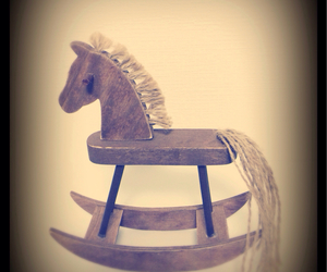horse, natural, and wooden horse image