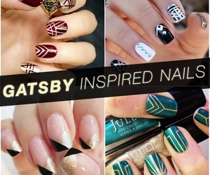 gatsby, nails, and gold image