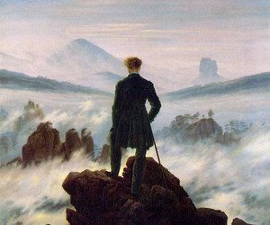art, painting, and caspar david friedrich image