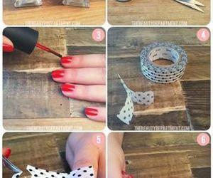 nails, diy, and heart image