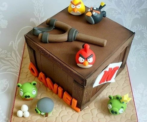 angry birds and cake image