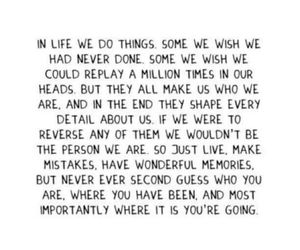 life, quote, and memories image