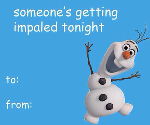 frozen, olaf, and valentine image