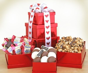 romantic gift ideas, valentines gift ideas, and valentines gift basket image