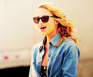 dianna agron, blonde, and glee image