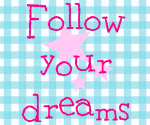 blue, pink, and quote image