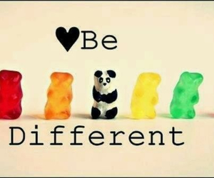 different, panda, and be different image