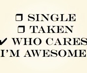 single, awesome, and quote image