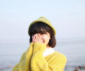 girl, smile, and yellow image