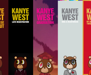 kanye west, album, and bear image