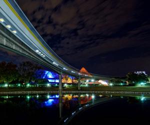 lake, train, and lights image