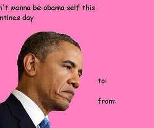 obama, funny, and valentine image