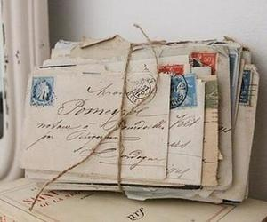 letters and old image