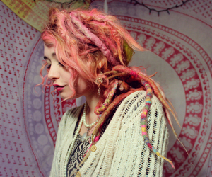 dreads and pink image